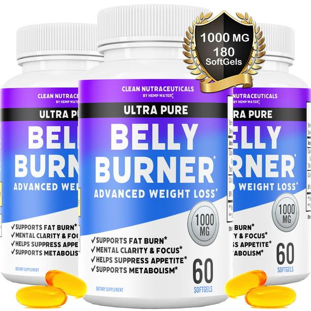 Belly Fat Burner Pills - CLA - Conjugated Linoleic Acid Softgels - Slim Stomach & Abdominals - Natural & Keto Diet Friendly Supplement for Men & Women - 180 Servings - 3 Bottles