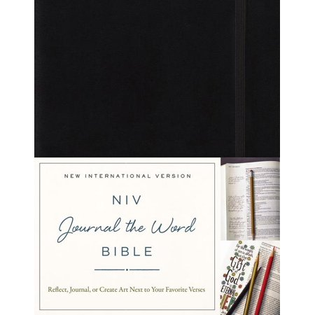 NIV, Journal the Word Bible, Hardcover, Black : Reflect, Journal, or Create Art Next to Your Favorite Verses