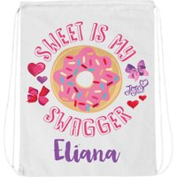 Personalized JoJo Siwa Sweet is My Swagger White Drawstring Bag