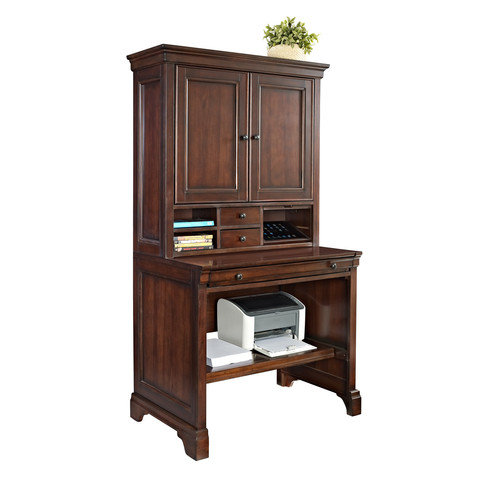 E-Ready Belcourt Compact Credenza Desk with Hutch