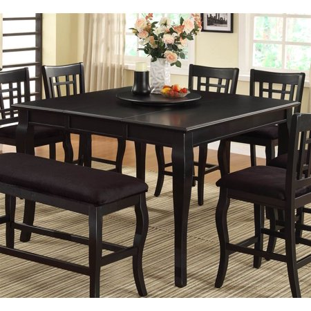 counter height dining table in black finish. Black Bedroom Furniture Sets. Home Design Ideas