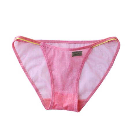 Imitation Jeans Lace Sexy Transparent Mesh Breathable Seamless Underwear  Thongs Briefs Panties for Women Lady - Free Size (Watermelon Red) -  Walmart.com b6ed0d6bd