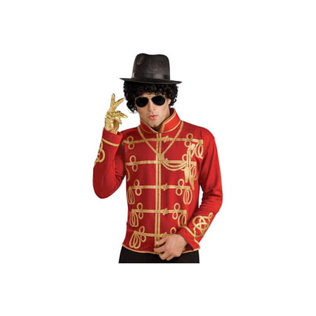 Michael Jackson Men's Military Jacket Costume Medium Red - Michael Jackson Halloween Costume Walmart