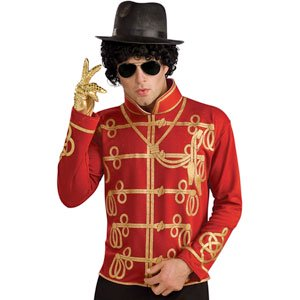Michael Jackson Men's Military Jacket Costume Medium Red