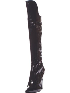 c08973bfc Product Image 5 Inch Heel Knee High Black Boots Fetish Boots Whip Crop  Flogger