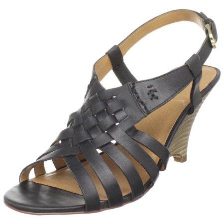 Pazzo Women's Heart Wedge Sandal,Black,10 M US