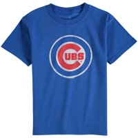 Chicago Cubs Youth Distressed Team Logo T-Shirt - Royal Blue