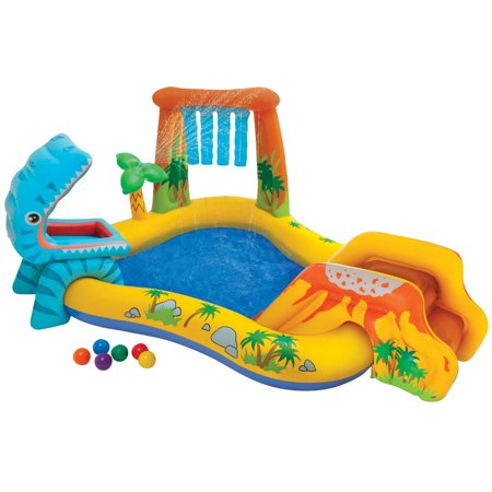Intex Inflatable Dinosaur Water Play Center](Plastic Kid Pool)