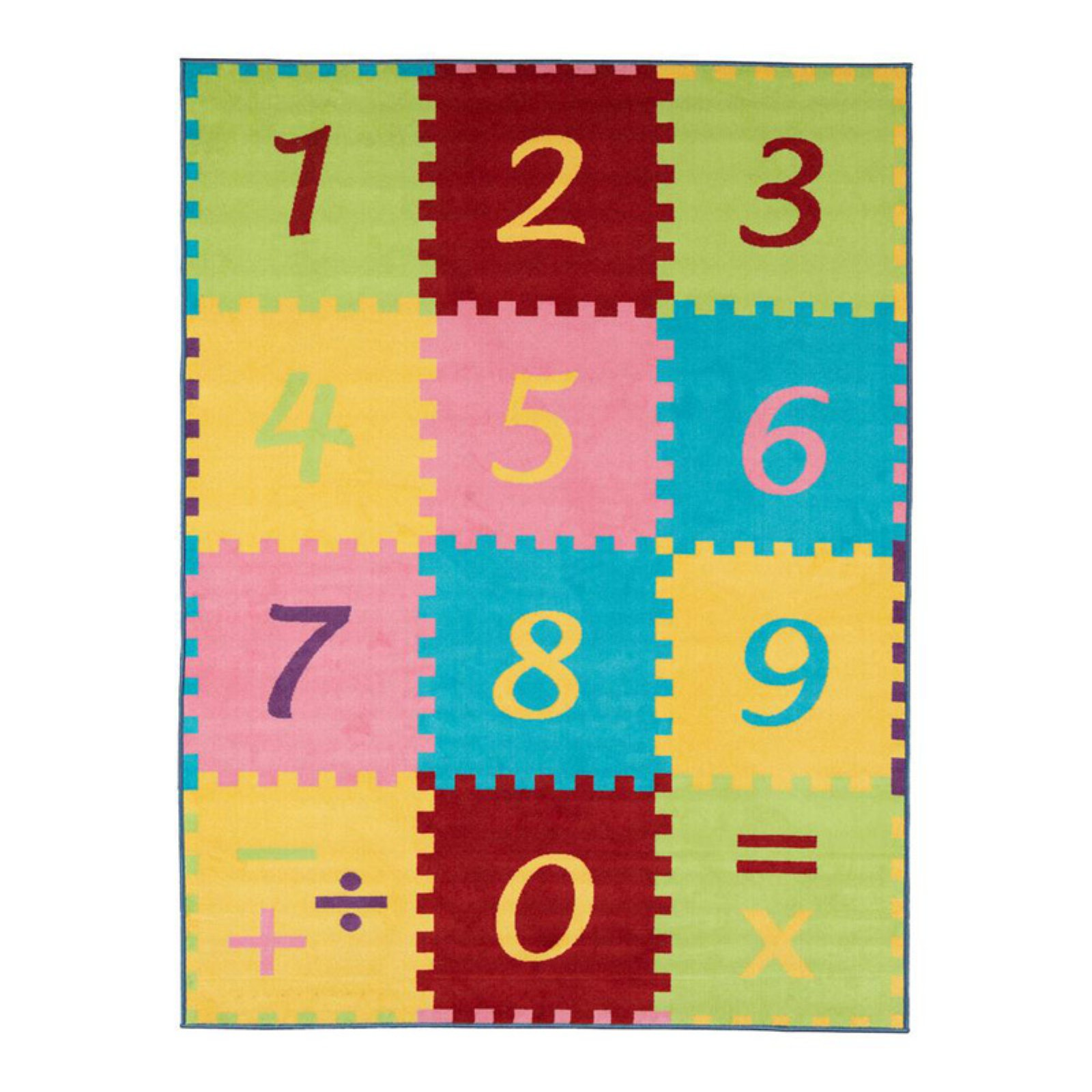 Ottomanson Childrens Garden Numbers Play Area Rug