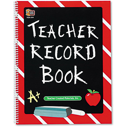 "Teacher Created Resources Record Book, Spiral-Bound, 11"" x 8-1/2"", 64 Pages"