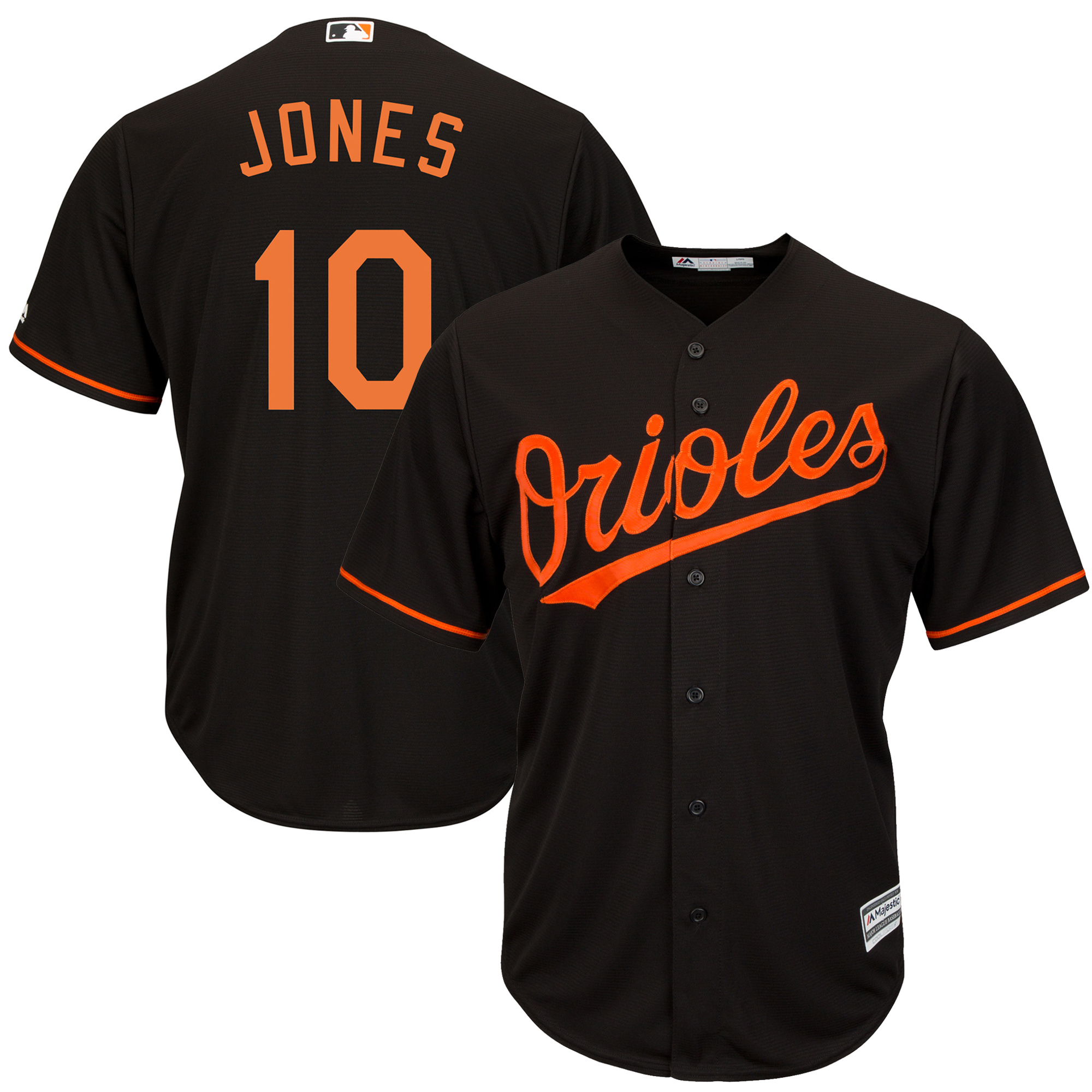 Adam Jones Baltimore Orioles Majestic Cool Base Player Jersey - Black