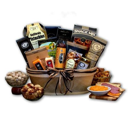 Gift Basket Drop Shipping Gourmet Nut and Sausage Gift Basket (Nut Gift Baskets For Men)