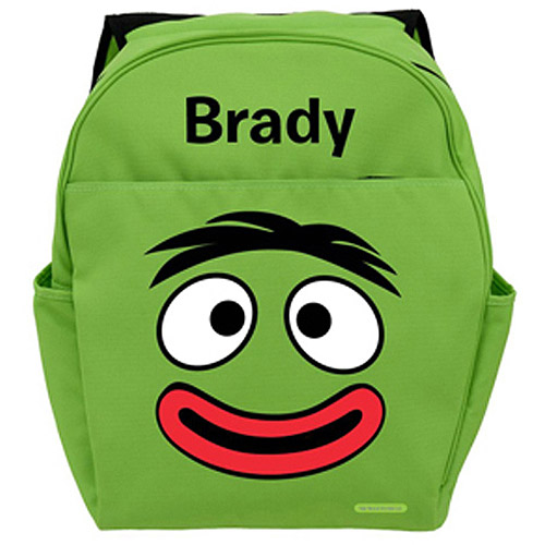 Personalized Yo Gabba Gabba! Brobee Smile Green Backpack