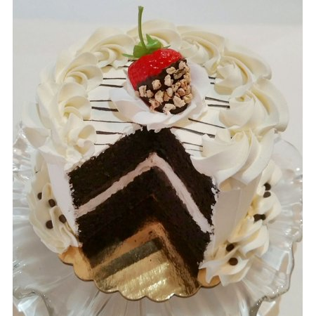 Sliced Fake Cake Vanilla Chocolate Strawberry with Choc Drizzle Dezicakes Chocolate Vanilla Marble Cake