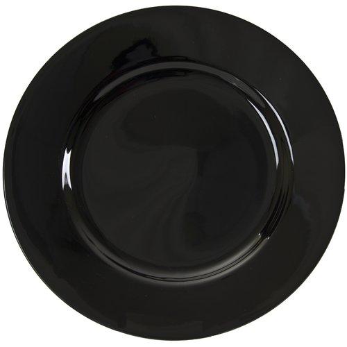 TenStrawberryStreet Black Rim 12'' Buffet / Charger Plate (Set of 6)
