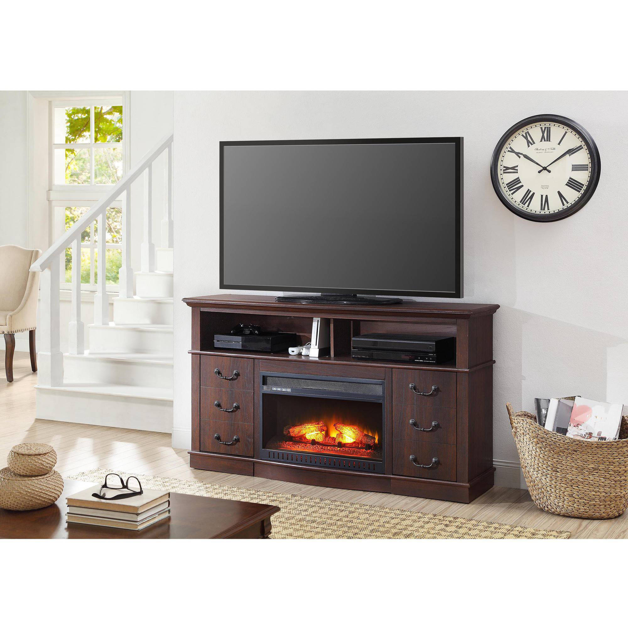 "Better Homes and Gardens 60"" Media Fireplace Console for TVs up to 70"", Multiple Finishes"
