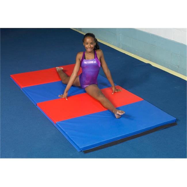 Fabrication Enterprises 38-2001 4 x 6 ft. Folding Mat, cloth hook and eye Ends - 2 in. Eco-friendly Matting