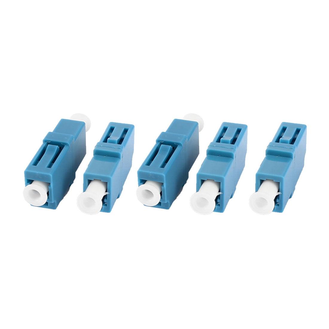 5 Pcs Plastic LC/SX Simplex Flange Fiber Optic Optical Adapter