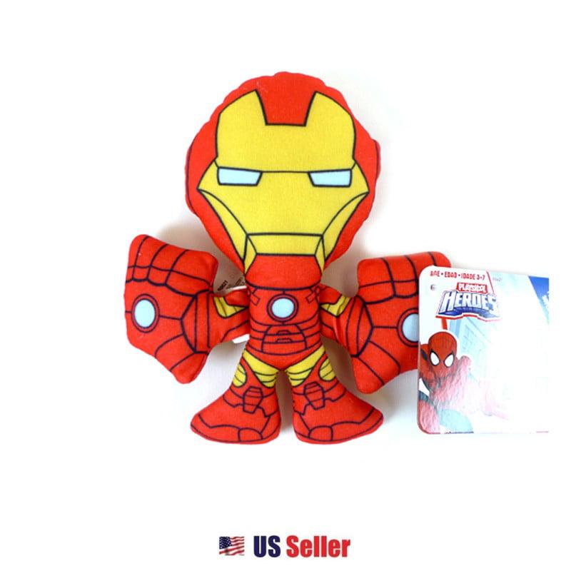 Iron Man Marvel Super Hero Adventures Playskool Heroes 7 Inch Plush by