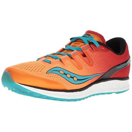 ee2346d3ad54e Saucony Men's Freedom Iso Running Shoe, Orange/Red, 13 Medium US
