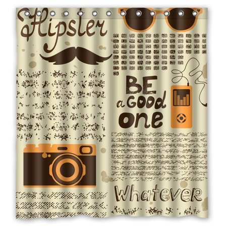 BPBOP Hipster Style Be a Good One with Mustache Waterproof Polyester Fabric Shower Curtain 66x72 (Good Moustache Styles)