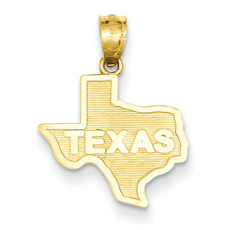 14k Yellow Gold State of Texas (15.5x20mm) Pendant / -