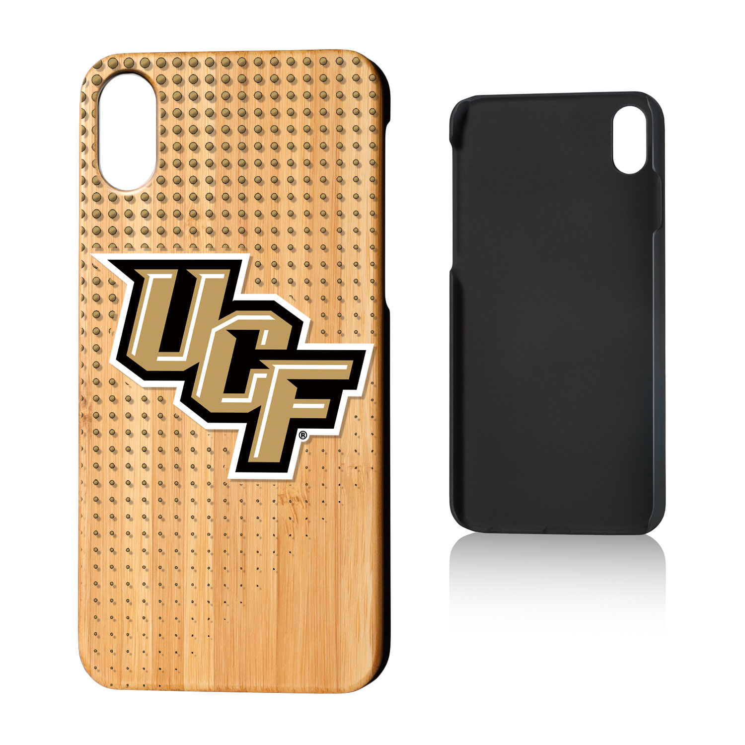 UCF Central Florida Knightro Dots Bamboo Case for iPhone X