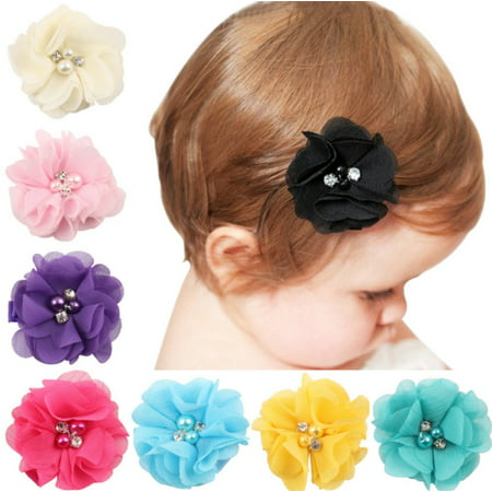 8 Pieces Baby Girls Hair Clip set  Grosgrain Ribbon Hair Bows Colored Hair Clip Alligator Clips Fashion for Teens Women Girls Kids