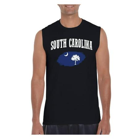 South Carolina State Flag Men Ultra Cotton Sleeveless T-Shirt