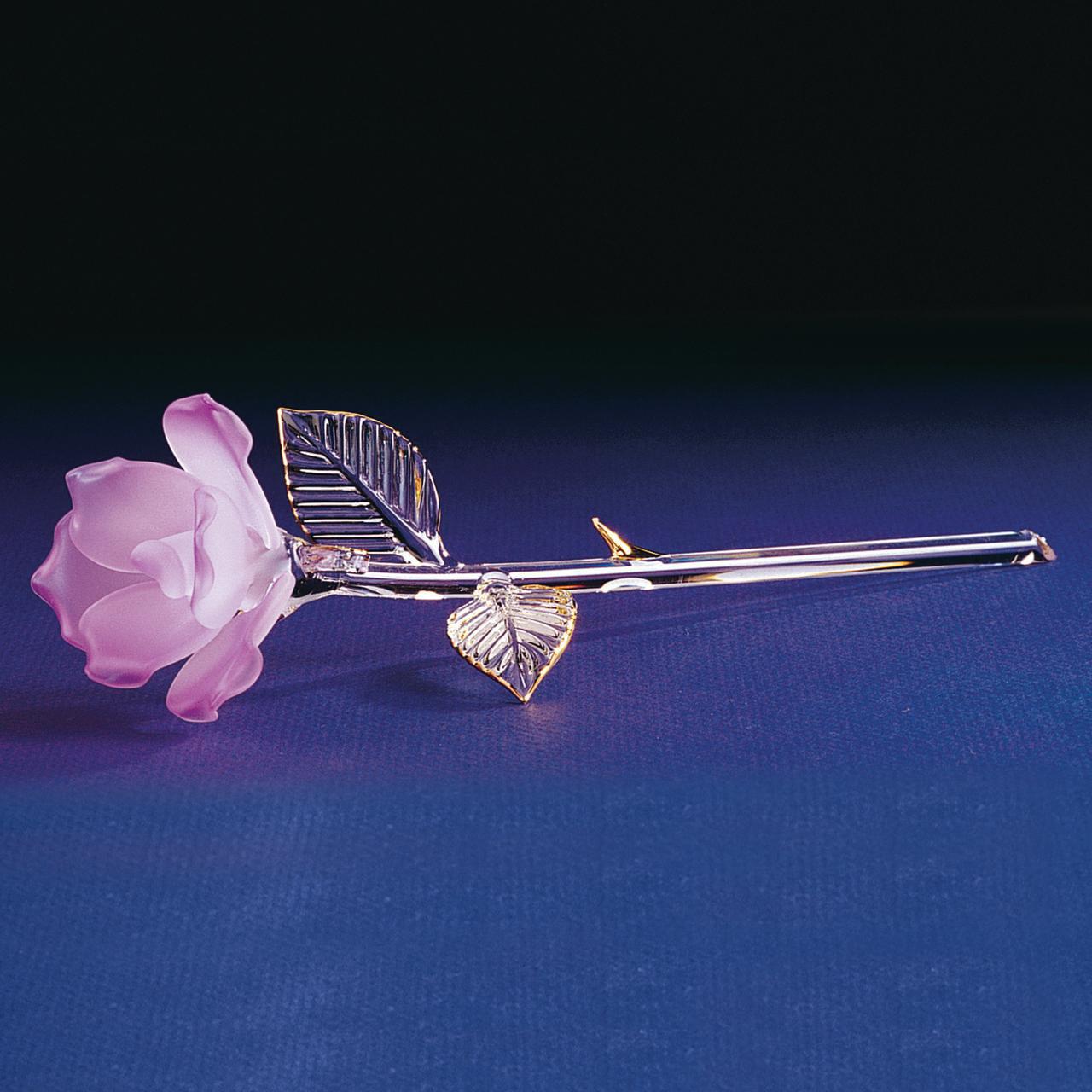 Lavender Rose Glass Figurine Floral Garden Nautical Keepsake Glas Baron Love Gifts For Women For Her
