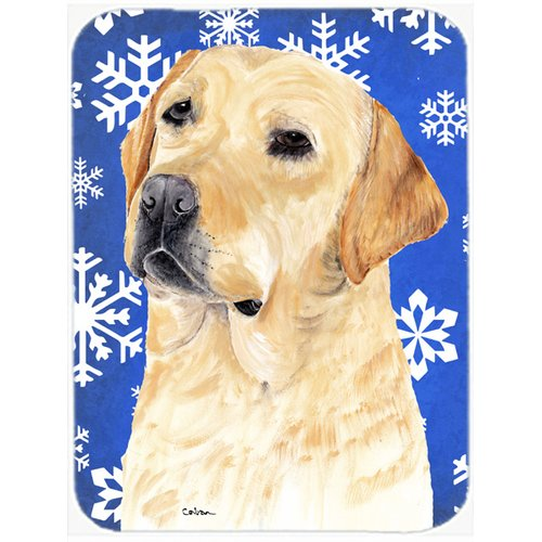 Caroline's Treasures Snowflakes Labrador Glass Cutting Board