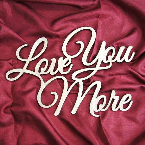 aMonogram Art Unlimited Love You More Painted Wooden Monogram