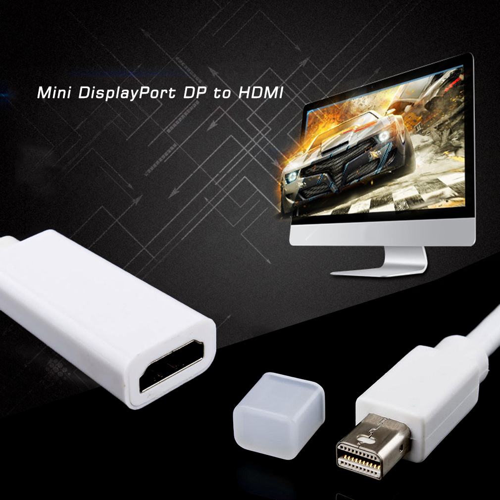 Mini Display Port DP to HDMI Adapter Short Cable Cord for MacBook Pro iMac Air