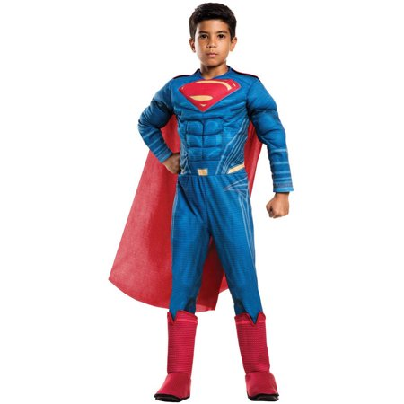 Batman Vs Superman: Dawn of Justice Deluxe Superman Child Halloween Costume](Man On Fire Halloween Costume)