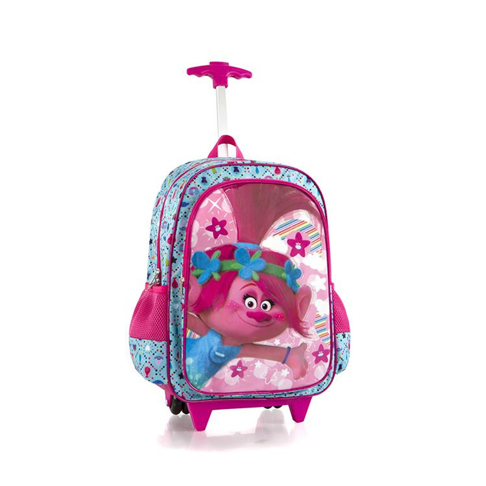 DreamWorks Core Kids Rolling Backpack with Shoulder Strap 18 Inch [Trolls] by
