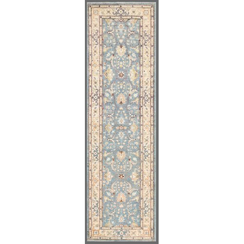 Pasargad Ferehan Hand-Knotted Ivory/Light Blue Area Rug