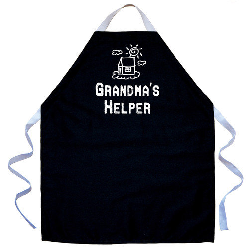 Attitude Aprons by L.A. Imprints Grandma's Helper Apron in Black