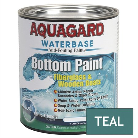 RJE International Aquagard Waterbased Anti-Fouling Bottom Paint - 1Qt - Teal 10005