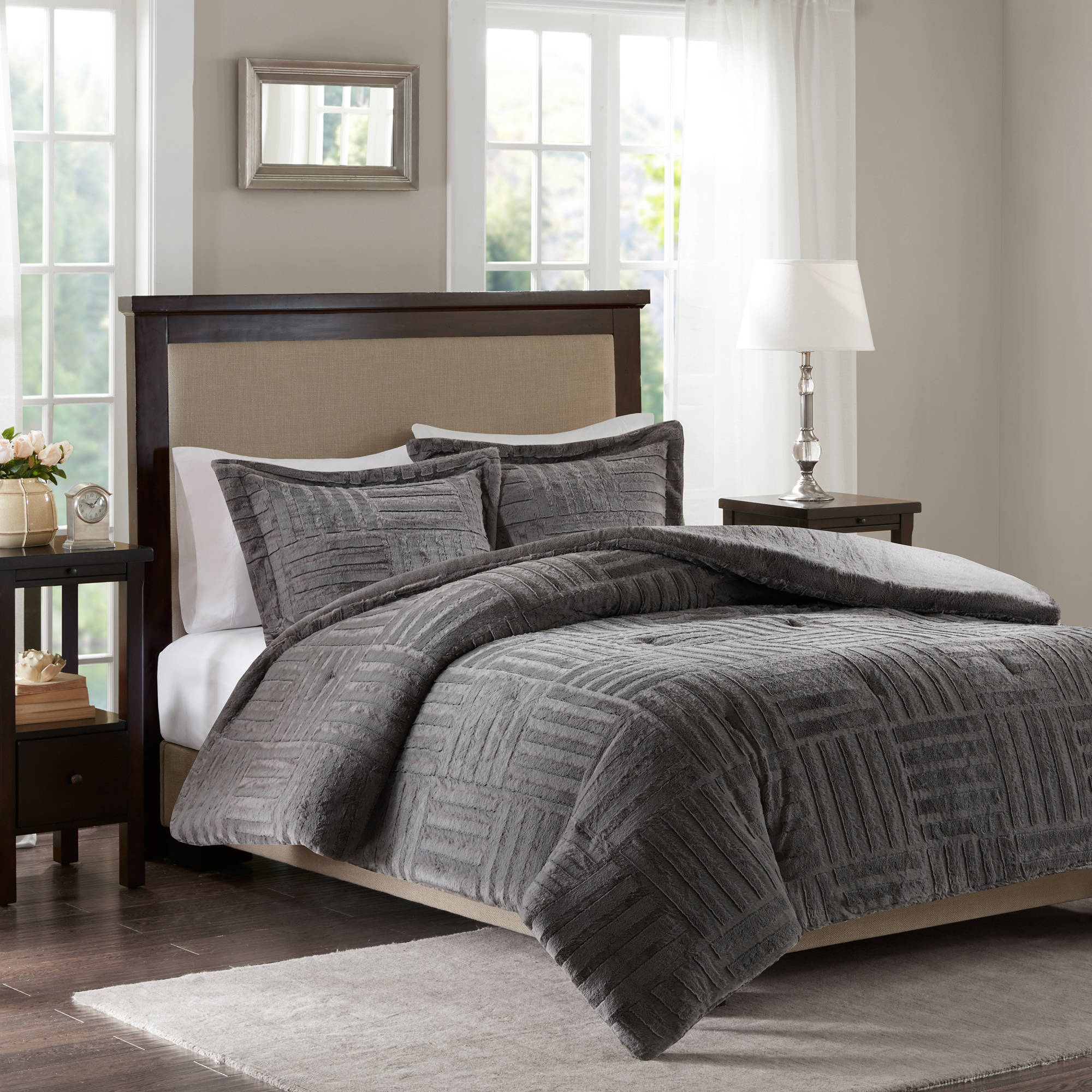 Home Essence Polar Fur Down Alternative Comforter Mini Set