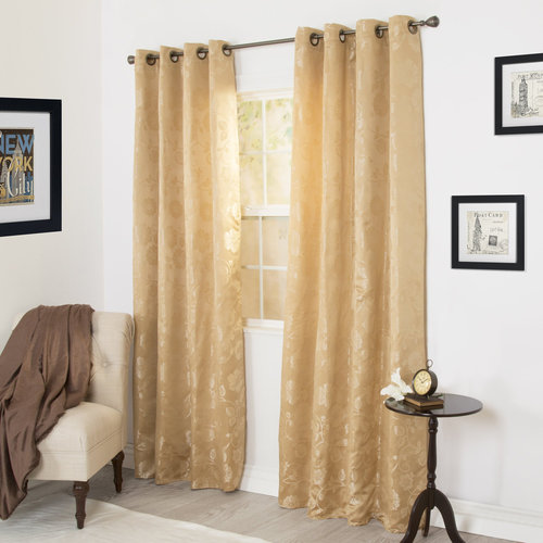 Somerset Home Cassia Jacquard Curtain Panel Set, 84""