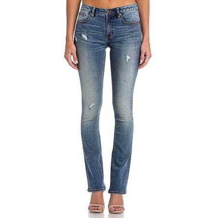 4ca7dd2ad84 Miss Me - Miss Me Medium Blue Classic Slim Bootcut Jeans - Walmart.com