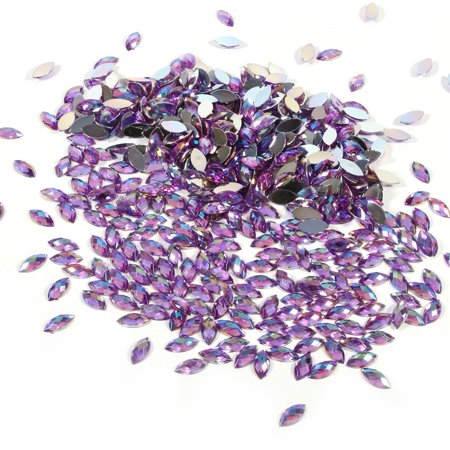 Yosoo 500pcs 7*15mm Crystal Rhinestones Acrylic Flat Back Horse Eye Shape Decor For Clothes Phone, Phone Decoration, Garment Accessories