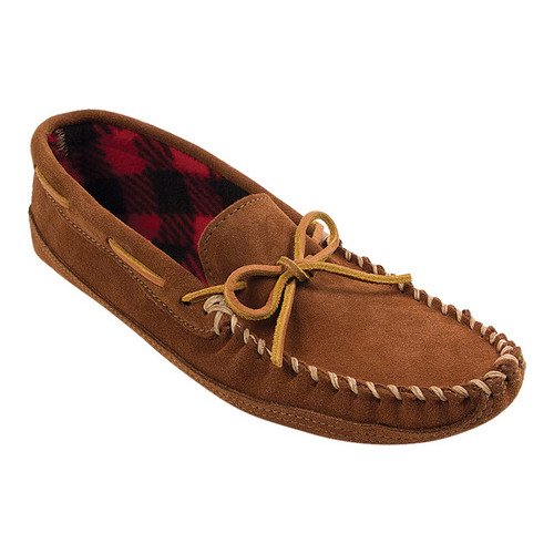 Minnetonka Men's Double Bottom Fleece Lined Moccasin