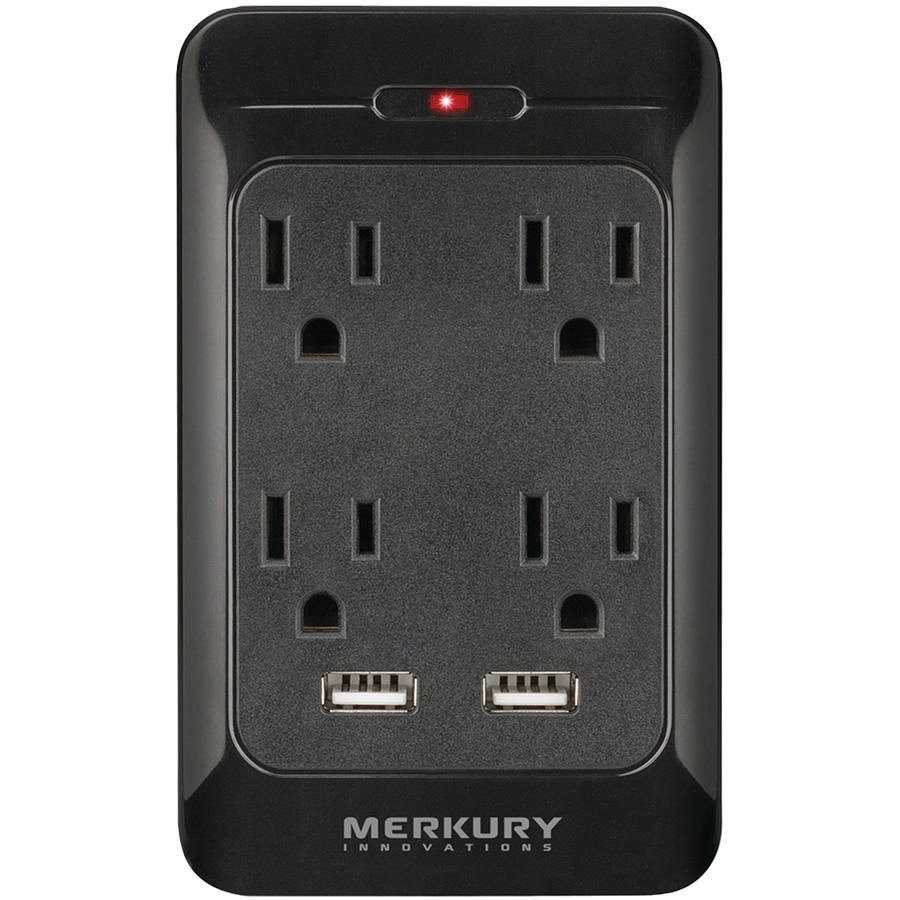merkury 4outlet usb wall plate with dual usb ports