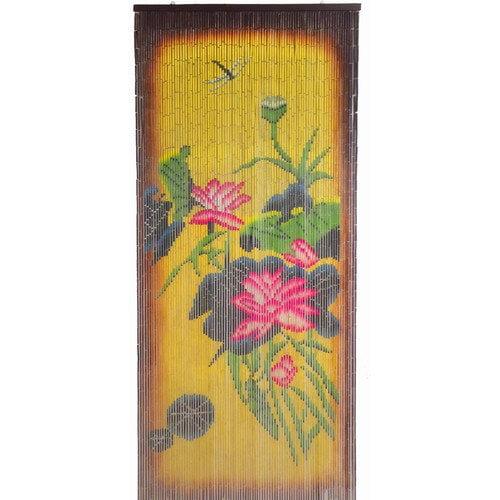 Bamboo54 Earthtone Florals Single Curtain Panel