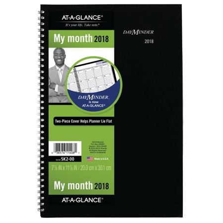 at a glance dayminder monthly planner 2018 december 2017 january
