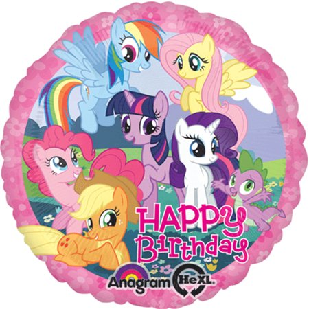 Happy Birthday With Balloons (My Little Pony Happy Birthday Foil / Mylar Balloon 18