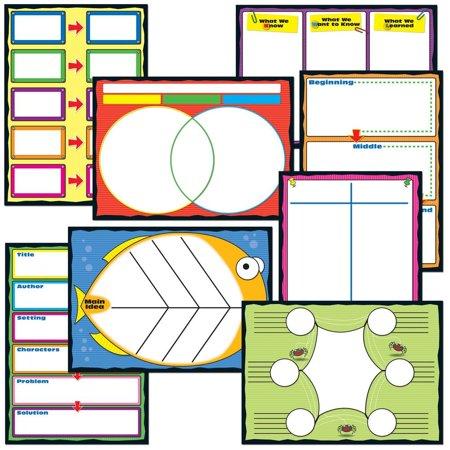 Carson Dellosa Graphic Organizers Bulletin Board Set (110161), 8 charts By CarsonDellosa