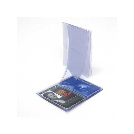 Hipster Wallet Plastic Insert Pictures Cards 6 Pages SET OF 2 Insert Made in USA Clear One