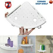 SUNSIOM Corner Storage Rack Holder Shelves Bathroom Punch-free Corner Snap Up Shelf